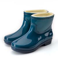 №【2019新款】冬天小朋友穿的浅口加码男中筒外卖童涉水鞋雨鞋加绒短筒女款冬天套靴。