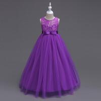 女童连衣裙夏季韩版礼服公主裙儿童夏装蓬蓬裙中大童蕾丝纱裙童装