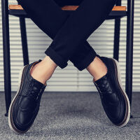 休闲皮鞋男内增高男鞋商务鞋英伦时尚百搭韩版青春潮流鞋子男潮鞋