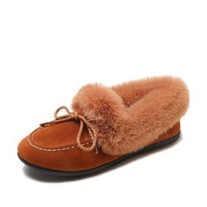 WARORWAR新品YM98-S2007冬季休闲鞋平底鞋舒适女士短靴豆豆雪地靴
