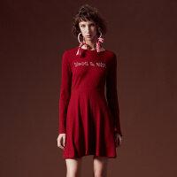 【2件2.5折到手价:64】美特斯邦威连衣裙女新款潮流性感时尚修身针织裙