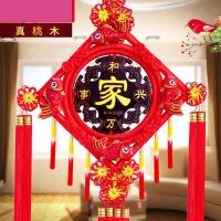 中国结桃木雕挂件家居家字福字挂饰乔迁开业礼品