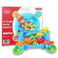 贪吃青蛙吃豆疯狂儿童玩具男孩吃球豆子游戏