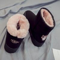 棉鞋女冬加绒保暖学生雪地靴女短筒韩版百搭加厚冬季女鞋