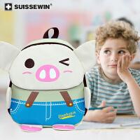 小程序专用【SUISSEWIN旗舰店 瑞士军刀品牌书包】幼儿园书包男童女童背包儿童外出双肩包