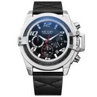 2018新款 美格尔新款手表 多功能计时运动日历石英表防水男士手表
