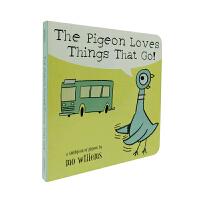 英文原版 The Pigeon Loves Things That Go! 鸽子就爱会跑的