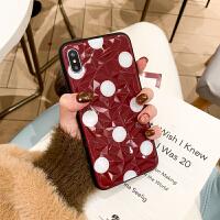 钻石菱形波点红色苹果xsmax手机壳全包硅胶iphone6plus防摔情侣款软壳6s红色xr/xs保 i6/6s 红底