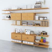 铁艺创意书架墙上多层置物架简约现代隔断玄关落地储物柜木质层架