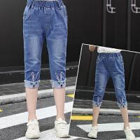 中童裤子女童短裤牛仔夏季新款薄款儿童装七分裤大童女孩中裤