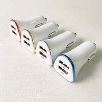 车载充电器汽车12v点烟器插头转双USB接口头车上手机通用苹果6