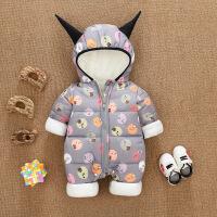 婴儿连体衣秋冬款男女宝宝冬装0一1岁婴幼儿加厚夹棉外穿衣服潮