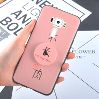 华硕Zenfone3手机壳5.5英寸气囊支架ASUS ZE552KL全包硅胶套女款