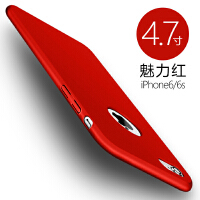 苹果6手机壳6splus套iphone6超薄磨砂7plus防摔硬壳六6P潮男黑女款红纯色6s手机壳8