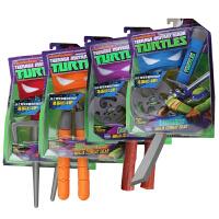 AULDEY 奥迪双钻 忍者神龟正品手办 角色扮演武器套装 动漫周边儿童玩具