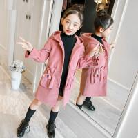 女童秋冬呢子外套韩版2018新款女孩洋气毛呢儿童中长款女宝大衣潮