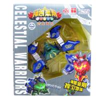 神兽金刚3青龙再现变形合体玩具套装 五合一机器人 白虎 均码