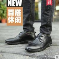 富贵鸟男鞋2018商务真皮低帮鞋子夏季爸爸鞋内增高软底休闲皮鞋男