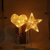 LED彩灯装饰灯 爱心五角星造型灯家居摆台 小夜灯电池灯
