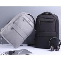 男士休闲商务电脑包旅行包 新款校园潮高中学生简约书包 男士背包双肩包