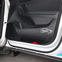 17-18款大众途观L车门踢贴垫门板保护碳纤膜途观l内饰改装 装饰