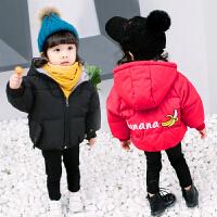 女童棉袄2018新款冬装1宝宝加厚2小童短款棉衣3岁婴儿童洋气4