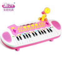 儿童电子琴宝宝早教音乐琴带麦克风启蒙玩具钢琴3-6岁a300