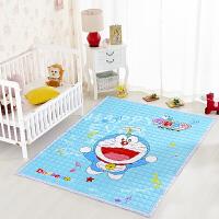 全棉环保宝宝爬行垫加厚儿童折叠游戏毯婴儿地垫客厅地毯爬爬垫 红色 200cm*150cm