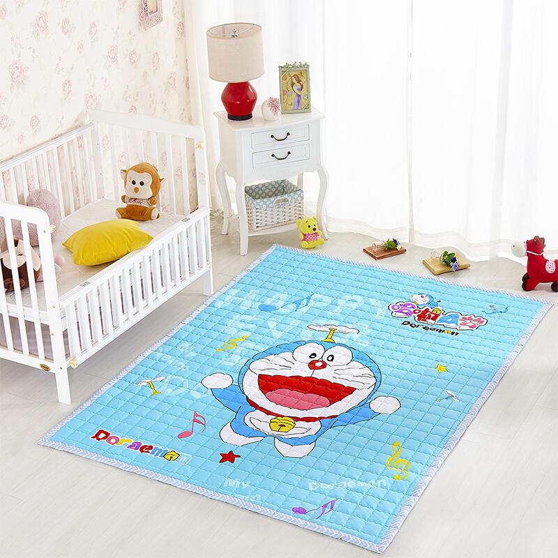 全棉环保宝宝爬行垫加厚儿童折叠游戏毯婴儿地垫客厅地毯爬爬垫 红色 200cm*150cm 发货周期:一般在付款后2-90天左右发货,具体发货时间请以与客服协商的时间为准