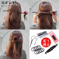 糖果公主韩国小清新懒人发带头饰造型器百变蓬松花苞