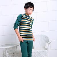 青少年男大童保暖内衣加绒加厚初中学生秋衣秋裤内衣套装棉毛衫冬