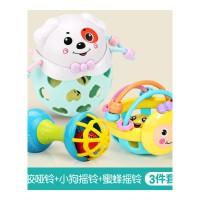 手摇铃玩具婴儿童0-1岁宝宝手抓可咬软胶男孩女孩3-6-12个月8抖音