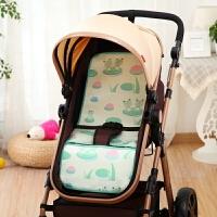夏天婴儿童手推车凉席 BB宝宝餐椅通用冰丝 夏季小孩凉席垫子透气 75cmX33cm