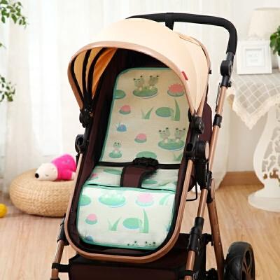夏天婴儿童手推车凉席 BB宝宝餐椅通用冰丝 夏季小孩凉席垫子透气  75cmX33cm 发货周期:一般在付款后2-90天左右发货,具体发货时间请以与客服协商的时间为准