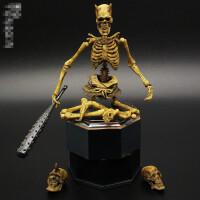骸骨头先生骷髅人偶剑士鬼武士人体骨架可动手办模型玩具 山口式