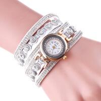 女士手链表 韩版时尚潮流绕圈铆钉手链表学生石英手表
