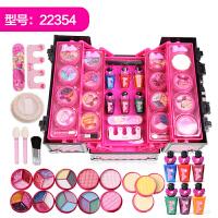 儿童化妆品娃娃公主彩妆盒套装女童口红女孩玩具3-6周岁7