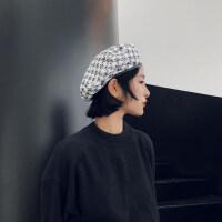 秋冬粗呢小香风甜美帽子女韩国复古优雅贝雷帽时尚日系画家帽yly M(56-58cm)