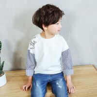 男童长袖T恤新款韩版体恤衫薄款休闲上衣打底衫潮