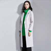 【清仓189元】梵希蔓清仓大衣女中长款2017新款修身长袖显瘦毛呢外套