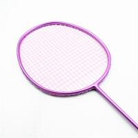 羽毛球拍 粉色纯色 全碳轻便 女性专用 单拍/双拍