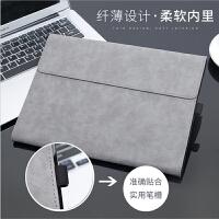 微软surface Pro3保护套平板电脑5壳go支架6皮套内胆包防摔笔套软 Surface Pro4/5/6 灰色皮