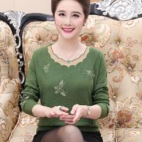 中老年女装秋冬装妈妈装针织衫大码针织衫打底衫中年女士加厚毛衣