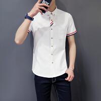 男士牛津短袖衬衫韩版青年学生帅气衬衣备货足 2022CS06