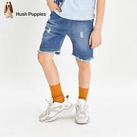 【1件7折:258.3元】暇步士童装男童短裤2020夏装新款儿童五分裤透气裤子中大童牛仔裤