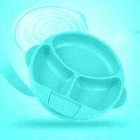儿童注水保温碗宝宝分格餐盘餐具辅食碗吸盘