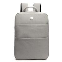 男女韩版笔记本双肩包苹果hp华硕.6寸英寸手提电脑包学生背包 6609米色送锁 寸