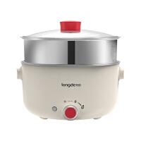 龙的(Longde)电火锅家用多功能电煮锅电炖锅3L、5L大容量电火锅物理不粘无油烟锅