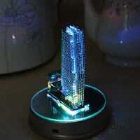 洛克菲勒广场金属拼图diy手工艺品建筑模型新年礼物送朋友