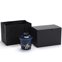 小青柑泡茶杯陶瓷茶水分离办公室家用个人带盖过滤功夫随手杯